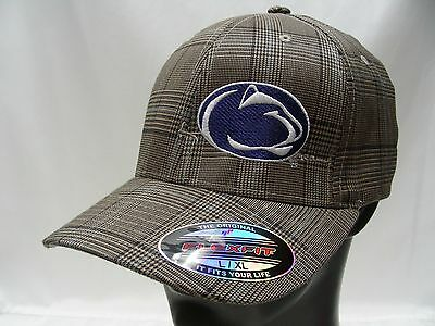 PENN STATE NITTANY Lions - Brown Plaid - L xl Size Flexfit Ball Cap ... 296ff36c592