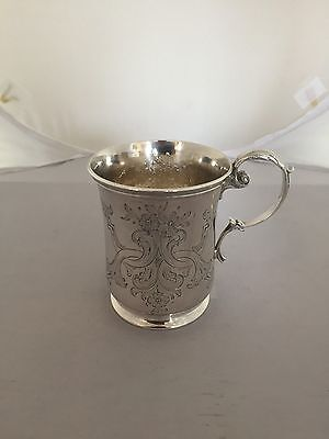 Stunning Highly Decorated Sterling Silver Victorian Christening Mug(London 1855)