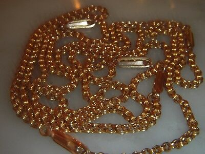 A Stunning Victorian 9 Ct Gold Fancy Link Necklace