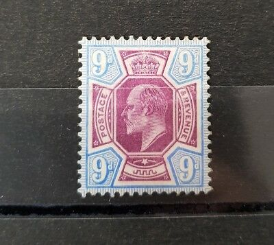 Gb Stamps King Edward Vii Sg 250 9D Dull Purple And Ultramarine M/mint
