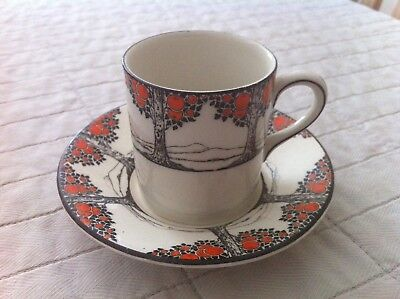 Crown Ducal Orange Tree Coffee Can/Cup - Art Deco 1930s