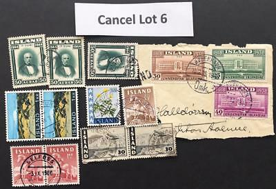 Cancels Lot 6 Iceland - Mixed cancels cancellations