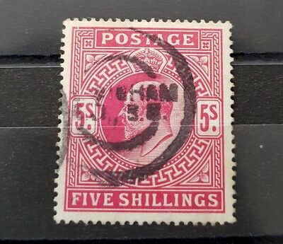 Gb Stamps King Edward Vii Sg 263 5S Brt Carmine Fine Used
