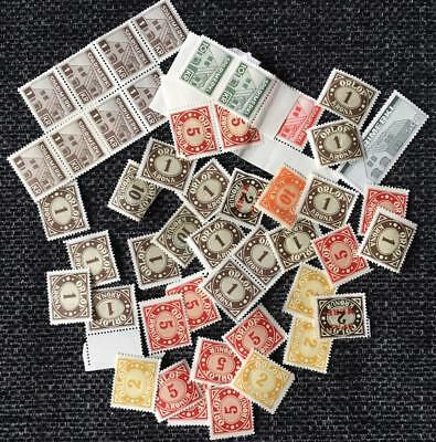 Lot mostly MNH Seconds REVENUES & SAVINGS STAMPS Iceland