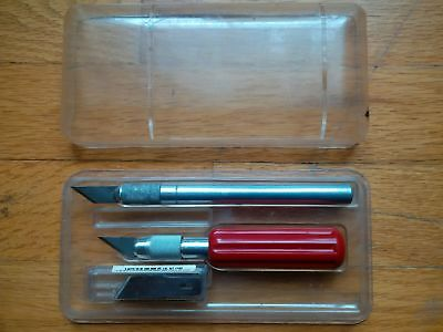 Vintage X-ACTO Knife Wood Carving 10pc Boxed Tool Set Carpentry Craft Kit Planes