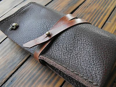 Watch Roll Leather, Calf leather Roll Up, Travel Organizer For 2 Watches