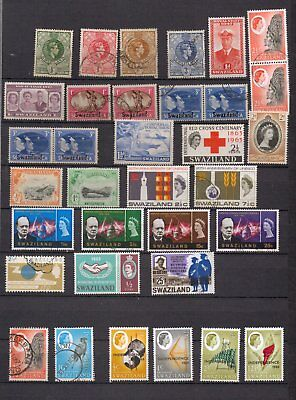 Swaziland. 1938-1968. A selection of mostly used stamps. Inc Churchill set.