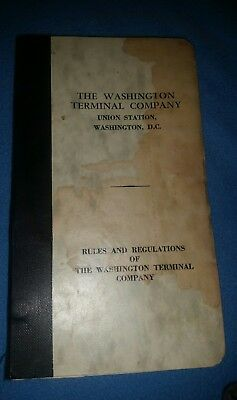 Washington Terminal Company Union Train Station Rules and Regulations Booklet