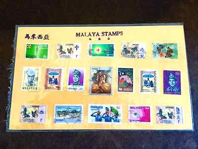 Beautiful Collectors Stamps from Malaysia