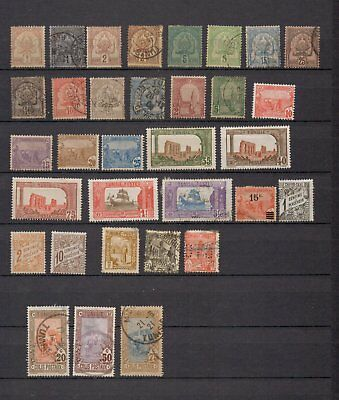 Tunisia. 1888-1914.  A selection of early stamps MH/U.