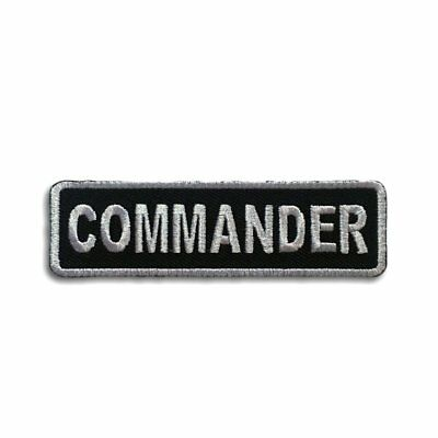 Embroidered Commander Sew or Iron on Patch Biker Patch