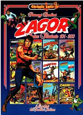 ZAGOR INDEX ILLUSTRATO 101/200 Serie grandi eroi