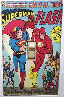 Superman vs Flash Light Switch Cover Plate - Treasury Edition DC Comics
