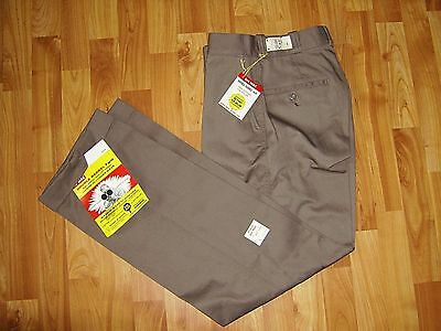 Vtg NWT 60s Penney's Big Mac Double Barrel Twill Gray Chino Work Pants 28x32