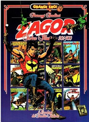 ZAGOR INDEX ILLUSTRATO 201/300 Serie grandi eroi