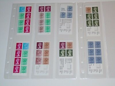 Stamp Pickers Great Britain Decimal Currency Booklets Lot All Complete MNH x 8