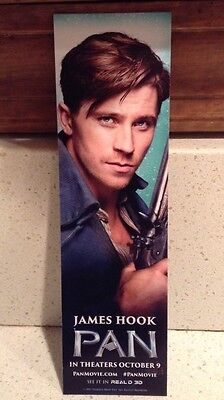 44 Pan Bookmarks James Hook Garrett Hedlund Pirate Captain Jolly Rodger Movie