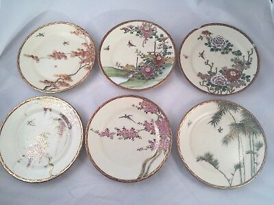 Asian Handpainted Decorative Plates - Set Of Six - Signed & ASIAN HANDPAINTED DECORATIVE Plates - Set Of Six - Signed - $25.00 ...