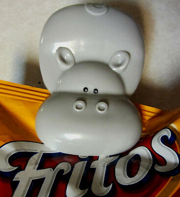 Gray Hippo Potato Bag Chip Clip Clamp