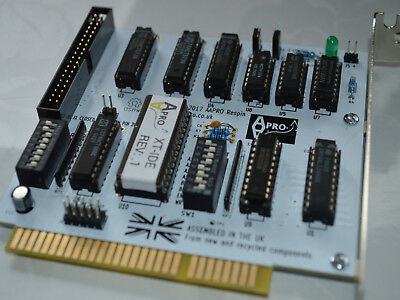Brand New Xt-Ide Ata Cf 8 Bit Isa Card For Retro Computers Boot Rom - Uk Seller