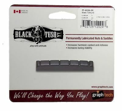 Graphtech Black Tusq XL Nut Slotted For 6 string Acoustic or Electric guitars