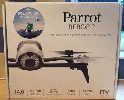 PARROT BEBOP 2 HD 1080p CAMERA DRONE IN WHITE ONLY 20 MINUTES USE PRISTINE MINT