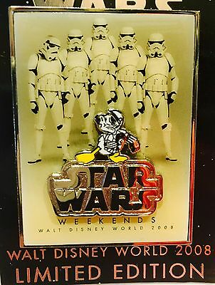 Disney Star Wars Weekends 2008 Logo Pin Donald Duck as Storm Trooper LE Limited