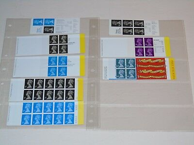 Stamp Pickers Great Britain Decimal Machins Booklets Lot All Complete MNH x 8