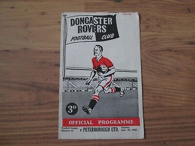1960/1 DONCASTER ROVERS v PETERBOROUGH UNITED (FIRST LEAGUE SEASON)