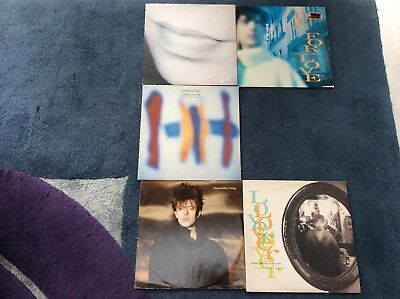 "Ian McCulloch Echo and the Bunnymen 5 x 12"" Vinyl Singles. Indie."