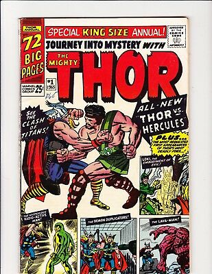 Journey Into Mystery Annual #1 Thor 1St Appearance Marvel Hercules Lee Kirby!!