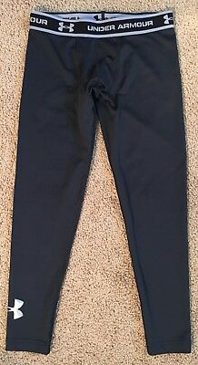UNDER ARMOUR Black Fitted Leggings Coldgear Youth Large 14/16
