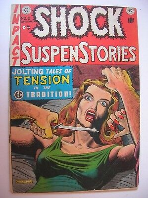 Shock Suspenstories #8, EC Comics, additional signatures by Williamson and Wood