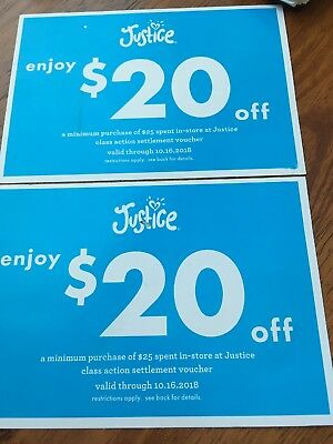 Shop justice coupons 2018