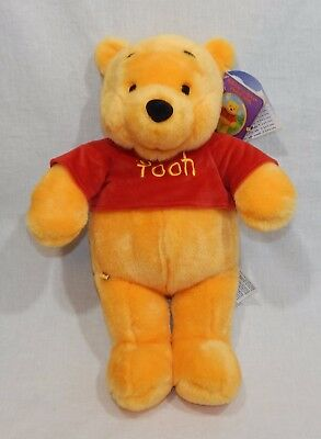 "Winnie The Pooh Build A Bear New Stuffed Animal 18"" Plush Retired Disney Red Top"