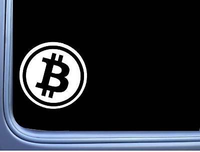 Bitcoin Symbol L688 6 inch Sticker cryptocurrency decal