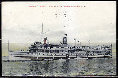 Steamer Toronto Plying on Lake Ontario, Charlotte, N. Y., 1909