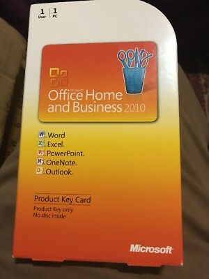 Microsoft Office Home Business 2010 Full Retail Version Product Key Card