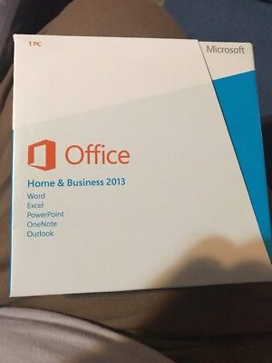 Microsoft Office Home Business 2013 FULL RETAIL Packaging CD + Product Key Card