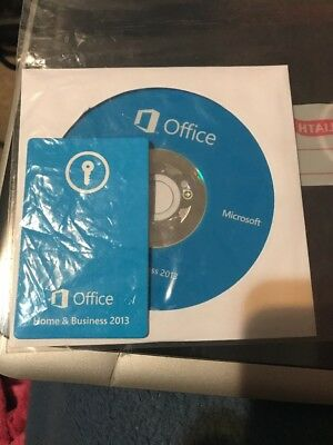 Microsoft Office Home Business 2013 CD + Product Key Card