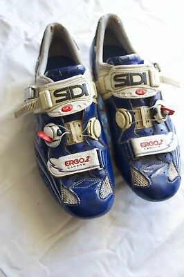 Sidi Ergo 2 blue, white, red, carbon road bike shoes