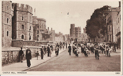 Postcard of Marching Band on Castle Hill, Windsor Castle, Berkshire