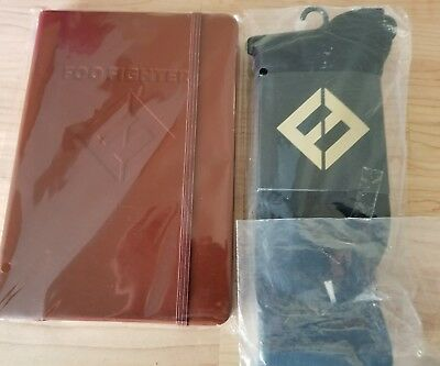 Foo Fighters LTD ED Concrete And Gold NEW Leather Embossed Journal Book & Socks
