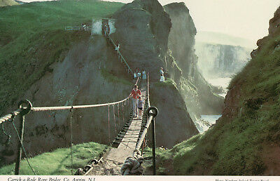 Postcard of Rope Bridge, Carrick-a-Rede, Ballycastle, Antrim, N. Ireland