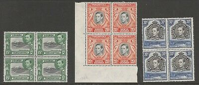Kut Selection Of 3 Gvi Stamps  In Fresh Mnh  Blocks Of 4  Nice Fresh Lot