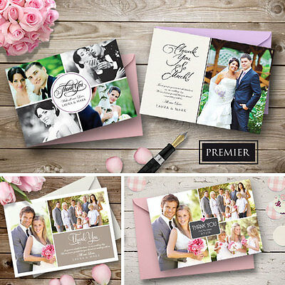x50 Personalised Wedding Thank You Cards Includes Envelopes + Your Photos