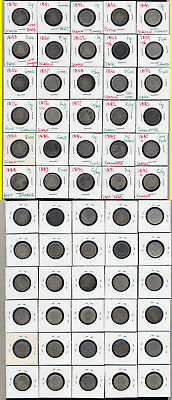 Lot Of 30 Seated Liberty Dimes- Scarce- No Reserve