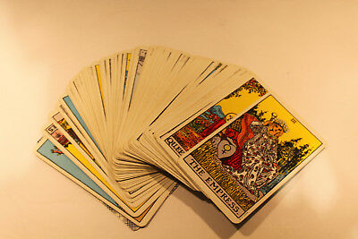 Vintage 1971 US Games Systems 2 Decks Tarot Cards With Storage Box EC