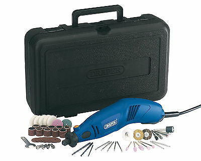 Draper Rotary Multi-Tool 230V with Carry Case & 56 Accessories Milling Polishing