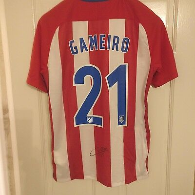 Atletico Madrid Kevin Gameiro Hand Signed 2016-17 Shirt